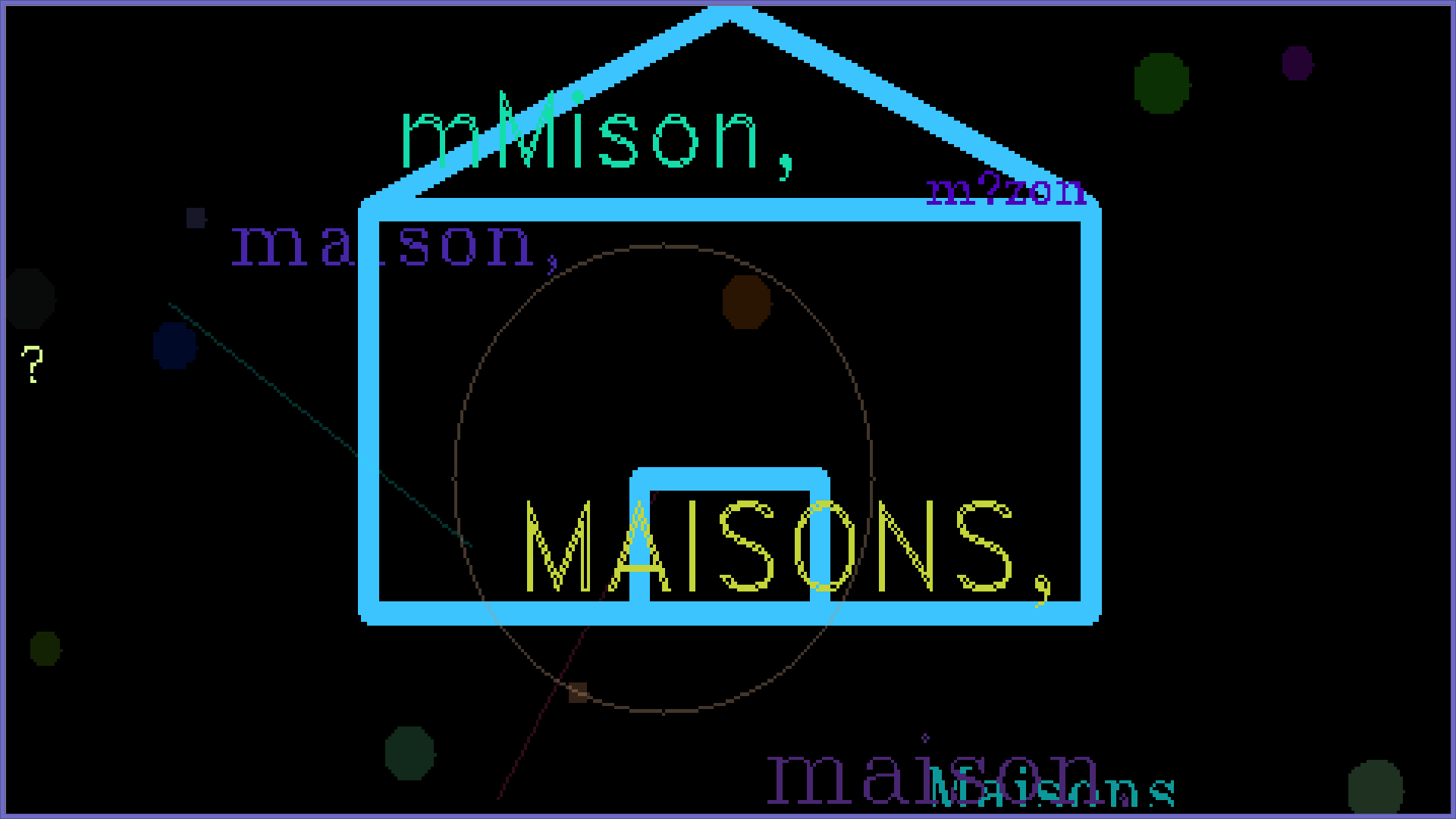 A house is drawn because the machine saw the word 'maison' (house in French).